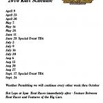 2016 kart schedule