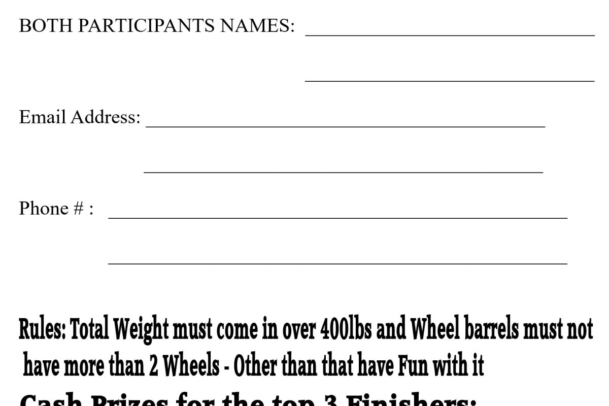 wheel barrel race entry form